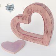 corazon rosa