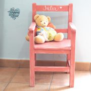Silla madera infantil personalizada