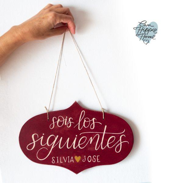 cartel boda lettering