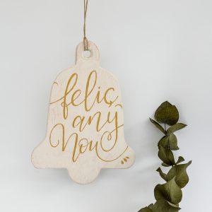 campana navidad dorada