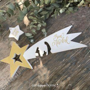 estrella de madera de reyes