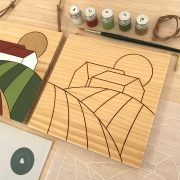 Kit pintar por números campo