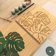 Kit pintar por números monstera